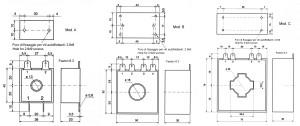 Trasformatori amperometrici dimensioni- Current transformers dimensions