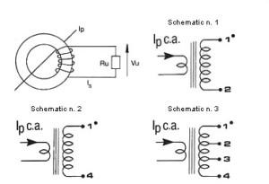 Trasformatore_Amperometrico_Schema Current transformer schematic