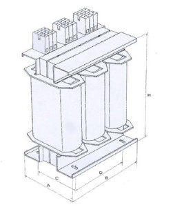 Trasformatori Trifase Quote Three-phase transformers dimensions