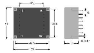 UI30 dimensioni - dimensions